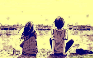 alone-anime-couple-sad-lovers-beautiful